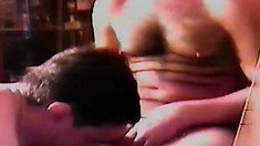 Three gays get it on in the garage with dicks in their warm spots
