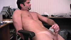Hot young stud Damian sensually reveals his body and pleases himself